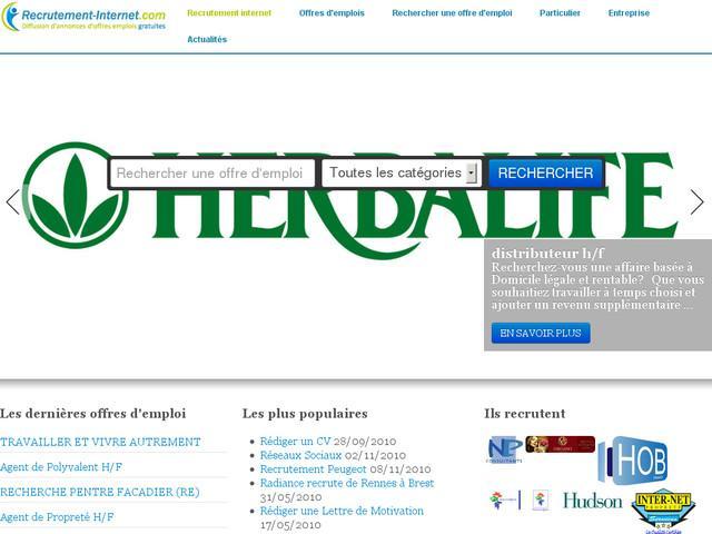 offre emploi diffusion gratuite recrutement-internet.com