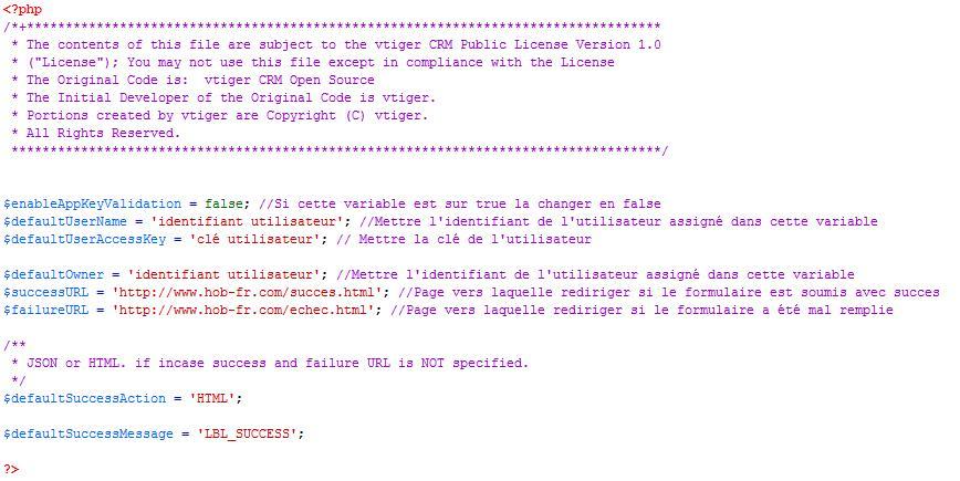 Code webform config